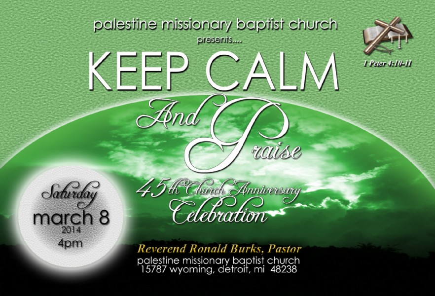 Palestine Missionary Baptist Church 45th Church ...