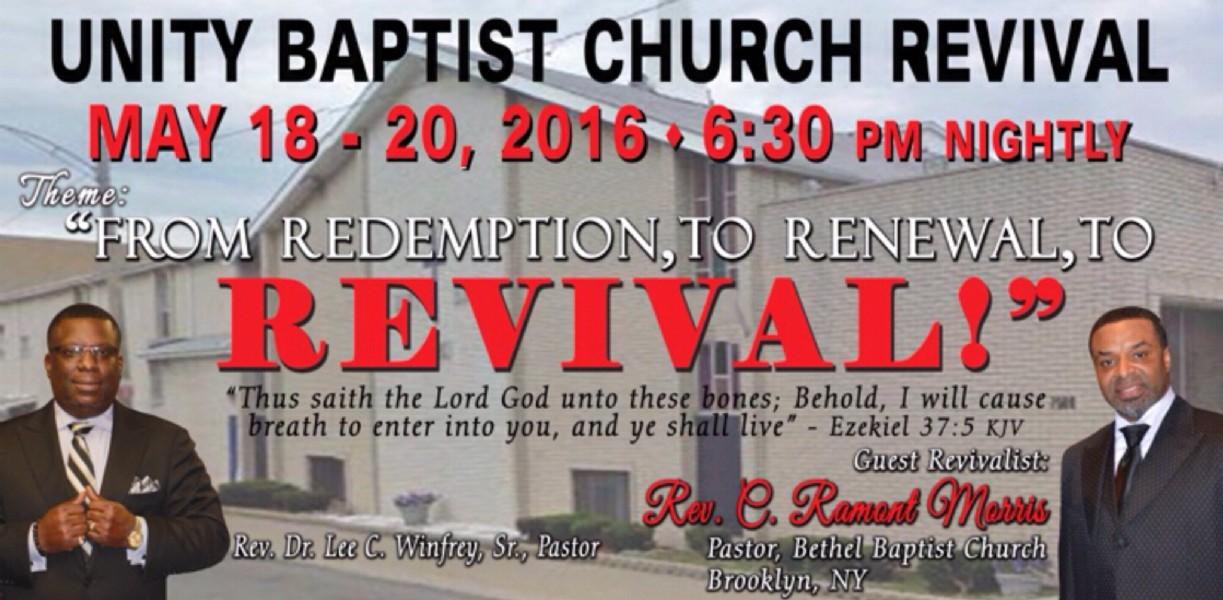 unity baptist church spring revival