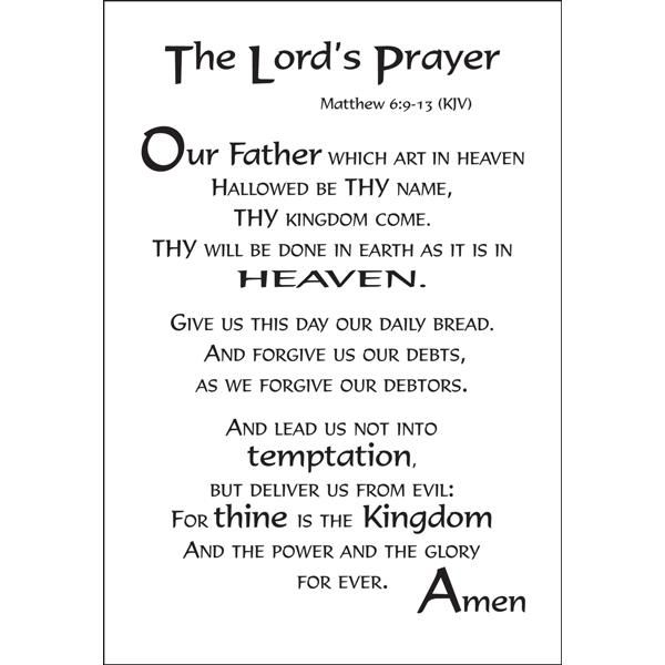the gospel of matthew the lords prayer