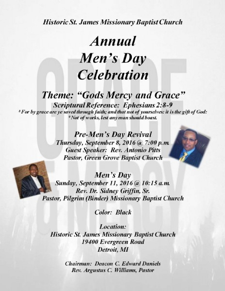 Historic St. James Missionary Baptist Church announces ...