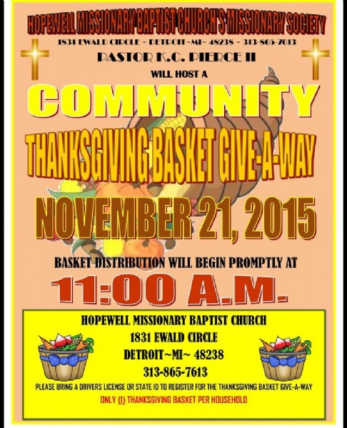 hopewell mbc community thanksgiving outreach