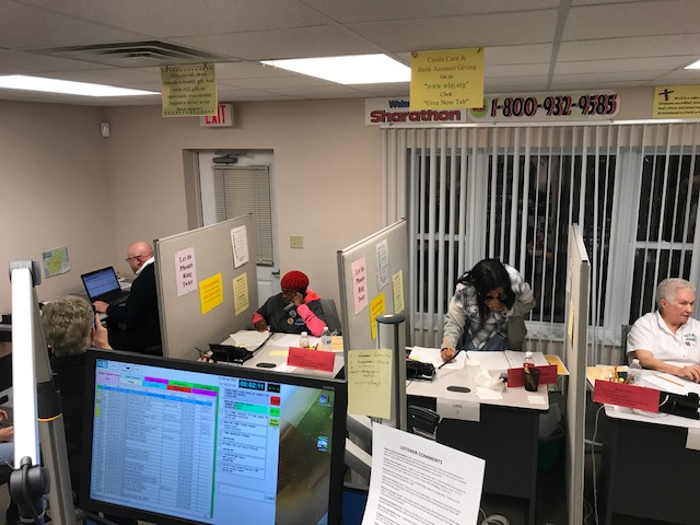 Volunteers Answering Phones