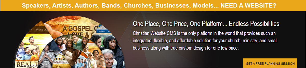 Website for Christian speakers and ministries by DRM Christian Websites