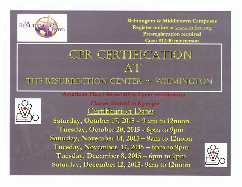 Cpr Cardiopulmonary Resuscitation Certification